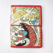 Papa Taka Notebooks Handmade indian Madhubani Painting Inspired Journal Notebook Diary psr silks Nesavu KG542