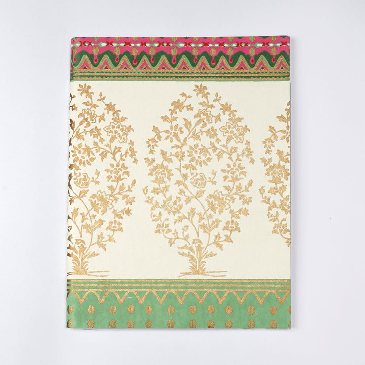 Papa Taka Notebooks Handwoven Banarasi saree design inspired  screen print cover Journal Notebook psr silks Nesavu KG443