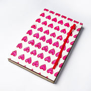 Papa Taka Notebooks Happy Heart Printed cover Handmade Journal Notebook Diary for her psr silks Nesavu KG472