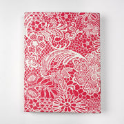 Indian White Lace Textile Inspired Journal Notebook Diary For Womens and girls - thenesavu