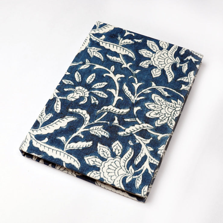Papa Taka Notebooks Jaipur Indigo Hand-block cotton printed Indian fabric Designer Notebooks psr silks Nesavu KG511