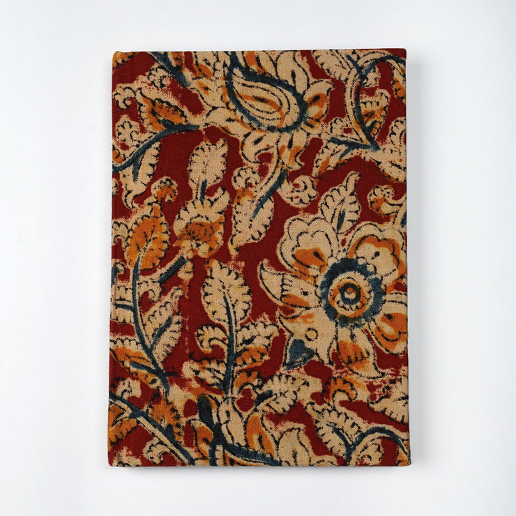 Papa Taka Notebooks Kalamkari Hand-block cotton printed Indian fabric Designer Notebooks psr silks Nesavu