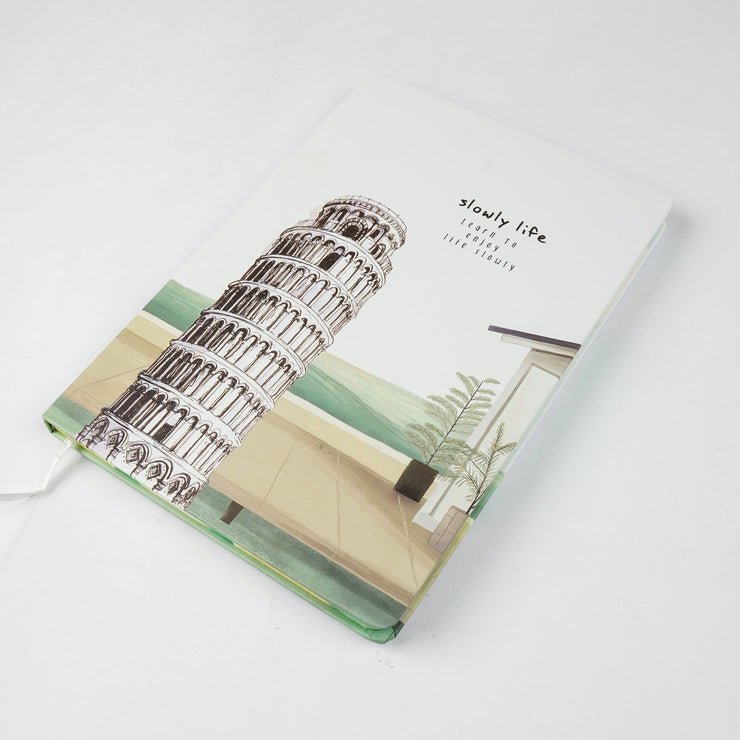 Papa Taka Notebooks Learn to enjoy life slowly wonders of world small size note book journal psr silks Nesavu PNJ067A