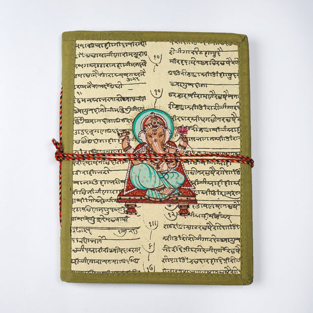 Lord Ganesha Indian Miniature painting inspired Journal Notebook Diary - thenesavu