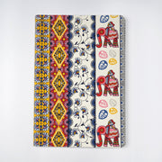 Papa Taka Notebooks Nice Traditional Indian elephant Madhubani Printed Journal Notebook psr silks Nesavu KG447