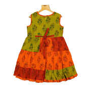 Traditional Hand Block Printed Handloom Cotton Casual Wear Frock - thenesavu