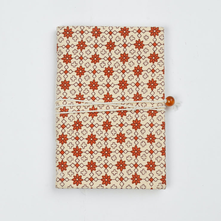 Papa Taka Journals & Diaries Two colour geometrical design cotton fabric cover mini pocket diary psr silks Nesavu PNJ008