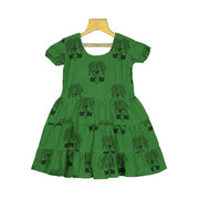 Unique Hand-block Printed Kids Girls Daily Wear Cotton Frock - thenesavu