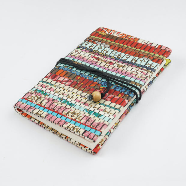 Papa Taka Journals & Diaries Up cycled handmade paper mat weaved cover notebook journals psr silks Nesavu