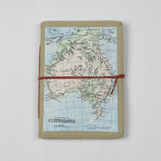 Papa Taka Journals & Diaries Vintage Australian map printed design cover diary and notebook psr silks Nesavu PNJ045