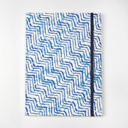 zig zag fabric inspired cover Printed eco friendly Journal Notebook Diary - thenesavu