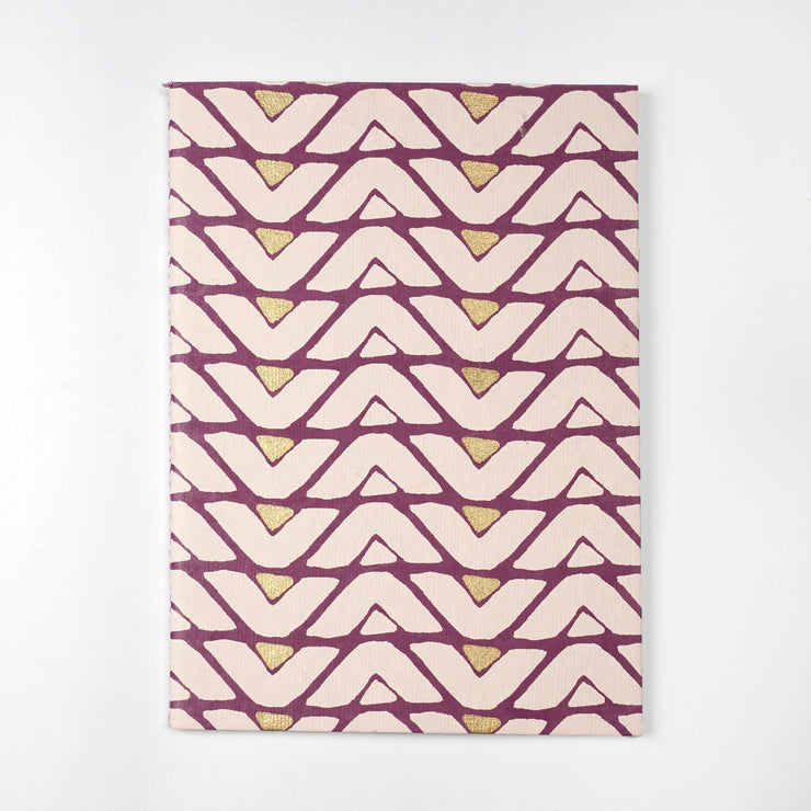 Papa Taka Notebooks Zig Zag Notebooks covers made of fabrics in india inspired designs psr silks Nesavu KG442