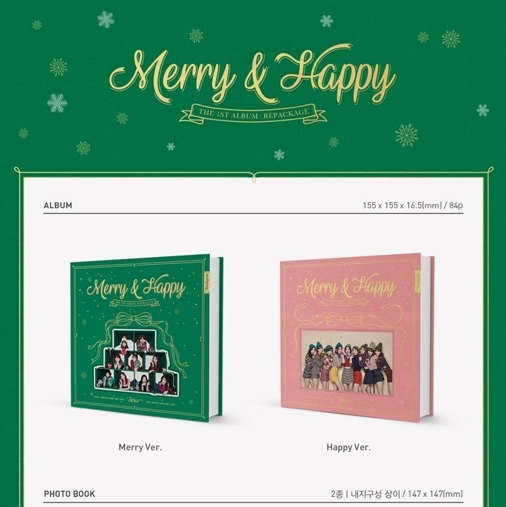 Twice - Merry Happy 1st Album Repackage