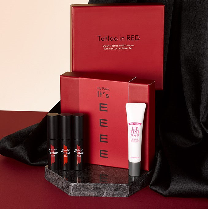 ETUDE HOUSE - Colorful Tattoo Tint 3 colours & Remover Set