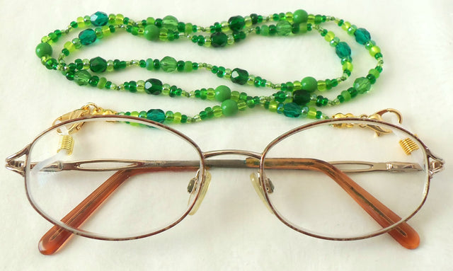 Green Beaded Eyeglass Chain