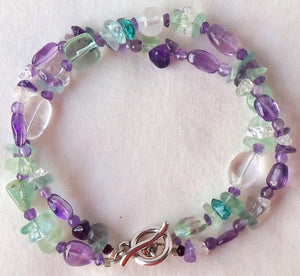 Beaded Gemstone Doublestrand Bracelet
