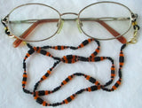 Black Orange Eyeglass Chain