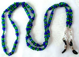 Blue Green Eyeglass Chain