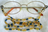 Yellow Beaded Eyeglass Chain