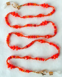 Beaded Orange Eyeglass Chain