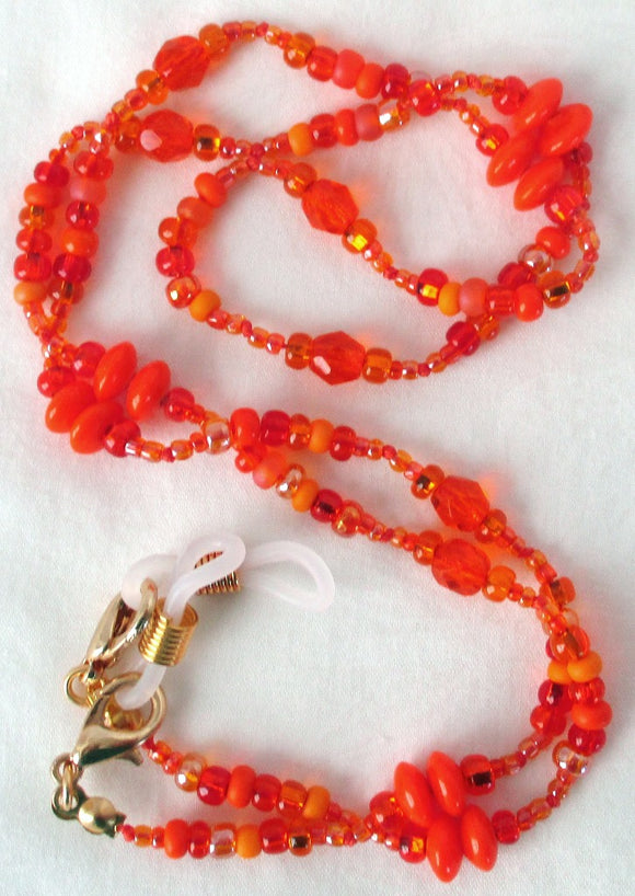 Orange Beaded Eyeglass Chain