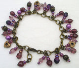 Plum Purple Beaded Chain Bracelet