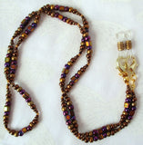Brown Beaded Eyeglass Chain