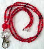 Beaded Red Lanyard