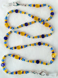 Blue Beaded Eyeglass Chain