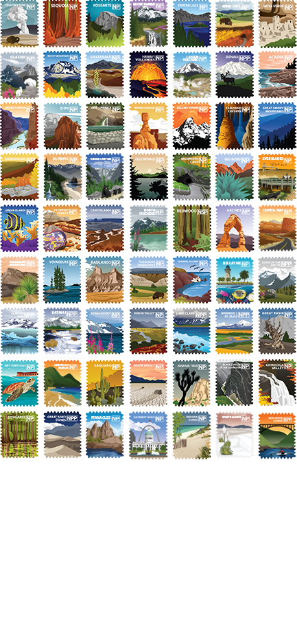 63 National Parks Complete Set