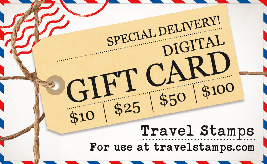 Travel Stamps Gift Card