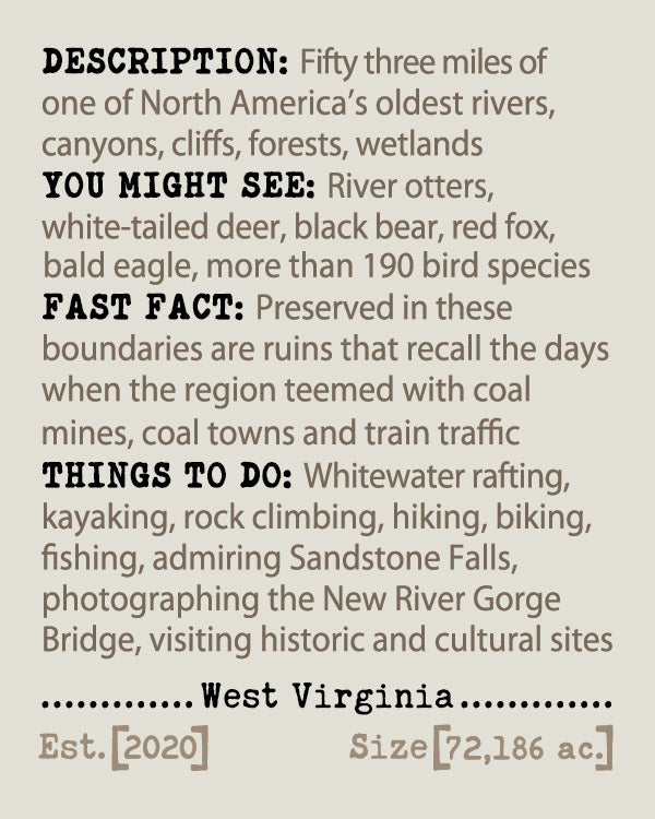 New River Gorge NPP Album & Guide Text