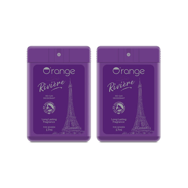 O'range No-gas Pocket Deo - Riviere For Women - Pack of 2