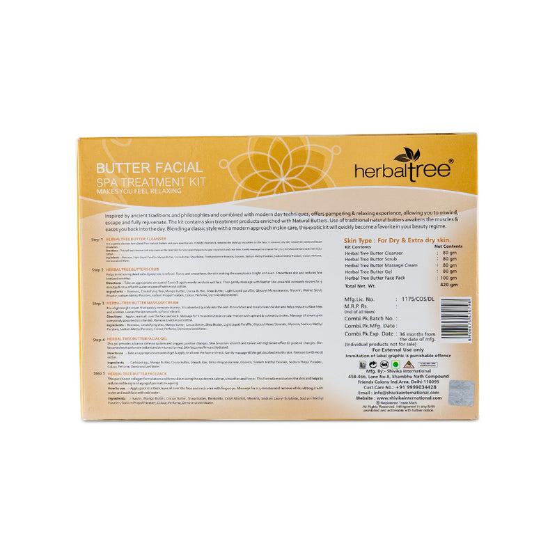 Herbal Tree Spa Treatment Butter Facial Kit for Dry Skin - Orange Something