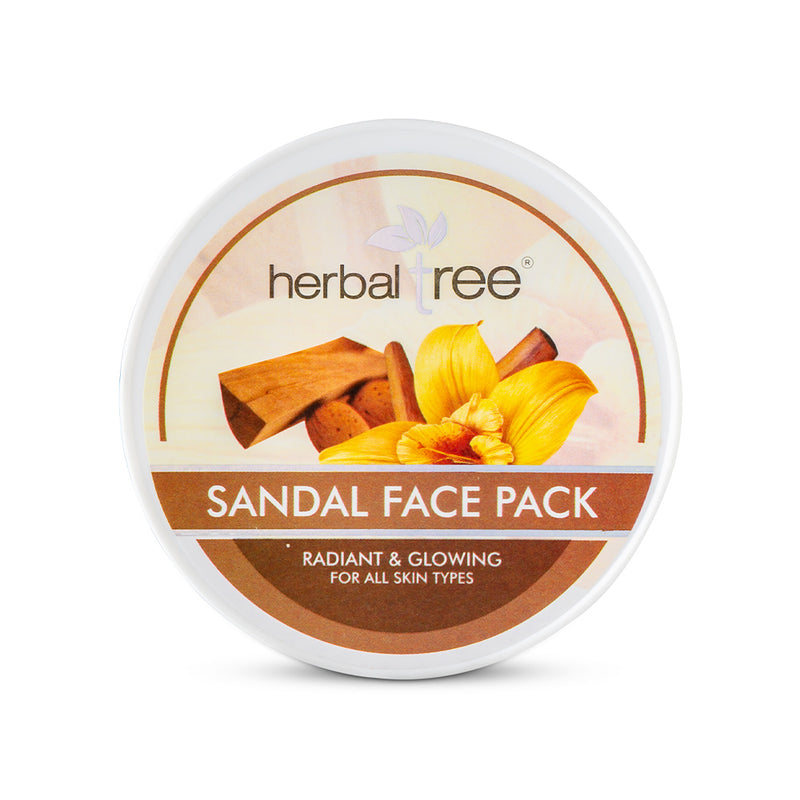 Herbal Tree Sandal Face Pack - Orange Something