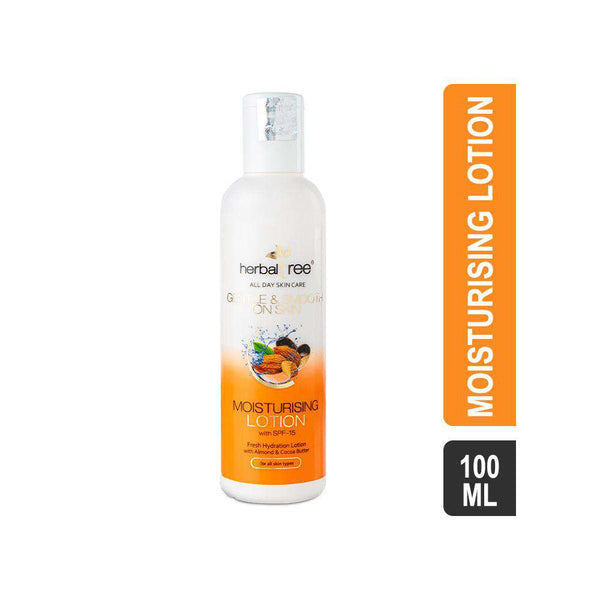 Herbal Tree Moisturising Lotion with Almond & Cocoa Butter - SPF-15-Lotions-Orange Something