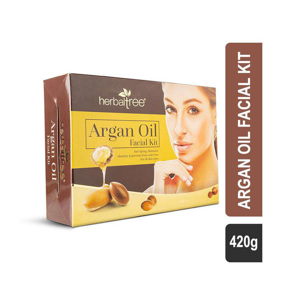 Herbal Tree Argan Oil Facial Kit for all Skin types-Facial Kit-Orange Something