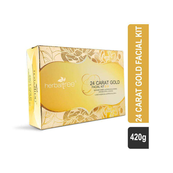 Herbal Tree 24 Carat Gold Facial Kit for Lustrous Glow-Facial Kit-Orange Something