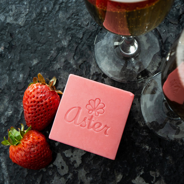 Aster Natural Handcrafted Body Bars - Strawberry Champagne
