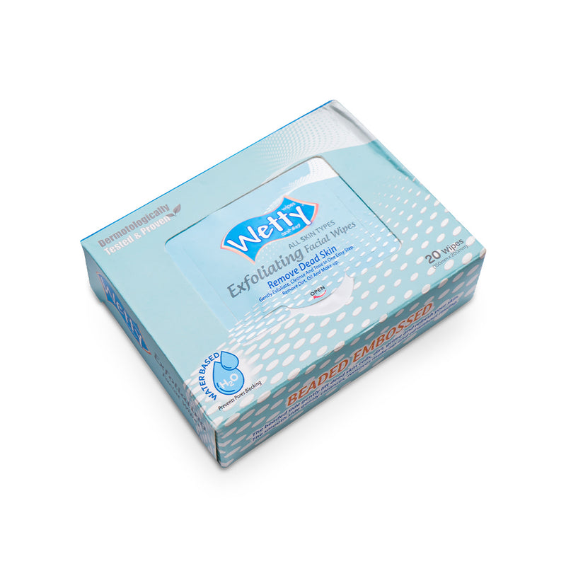Wetty Exfoliating Wipes - Orange Something