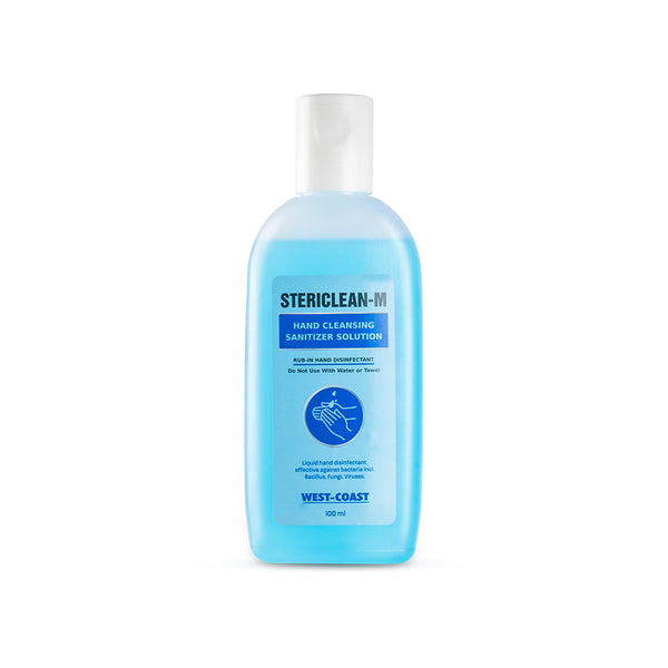 Stericlean-M Hand Cleansing Sanitizer Solution 70% Alcohol – 100ml