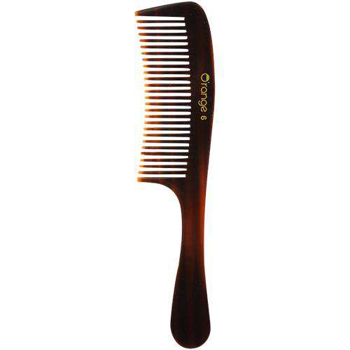 O'range Wide Teeth Handle Hair Comb-Combs-Orange Something