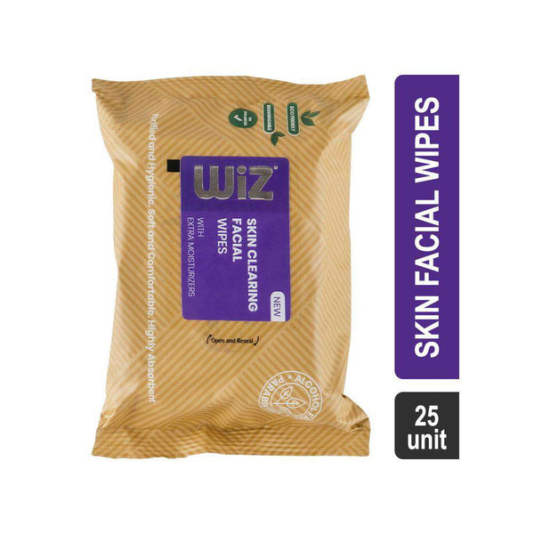 Wiz Skin Clearing Facial Wipes With Extra Moisturizers-Face Wipes-Orange Something