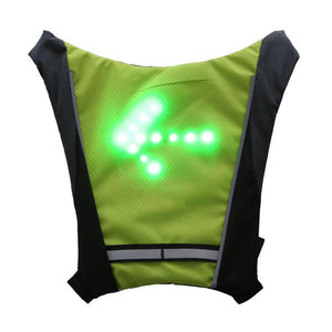Safety LED Turn Signal Light Bicycle Vest with remote control - Electric Scooters Pacific