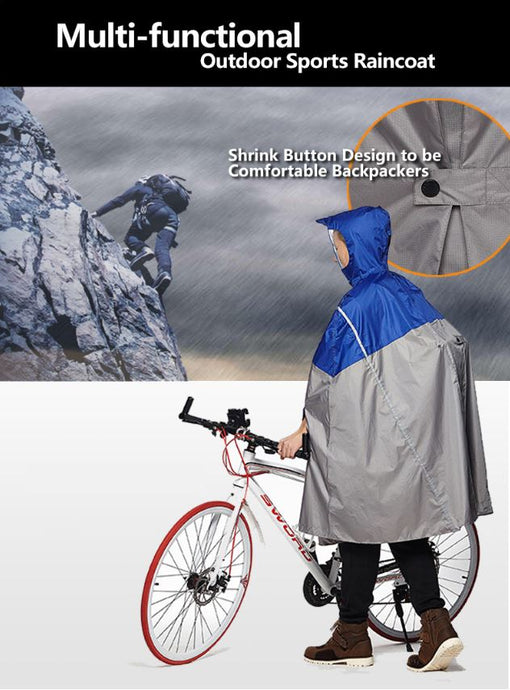 Impermeable Outdoor Cycling Raincoat Hivis Poncho Women/Men