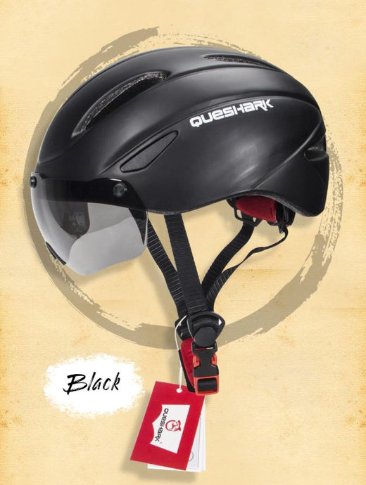 Bike Helmet with Magnetic Windproof Sunglasses