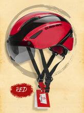 Load image into Gallery viewer, Bike Helmet with Magnetic Windproof Sunglasses