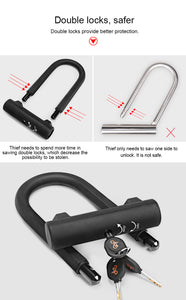 Anti-theft Heavy Duty U-Lock