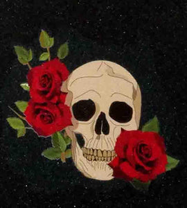 "Skull and roses - Grip Tape 9""x33""-grip tape 9x33-Grip Tape and Co-[skateboard]-[longboard]-[scooter]-Electric Scooters Pacific"