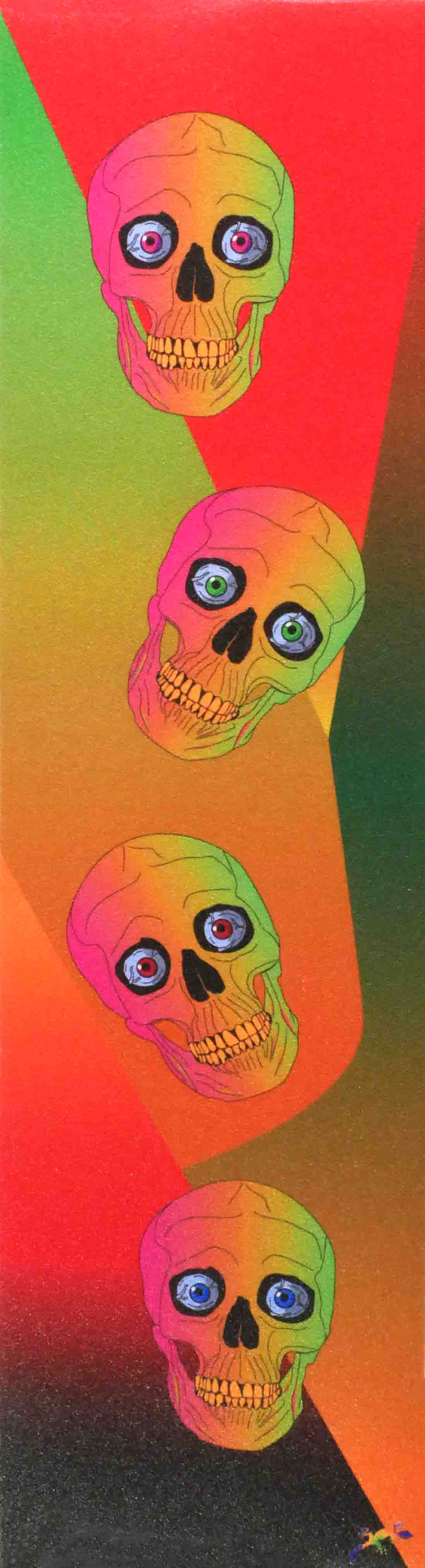 Coloured crazy skull- Grip Tape 9